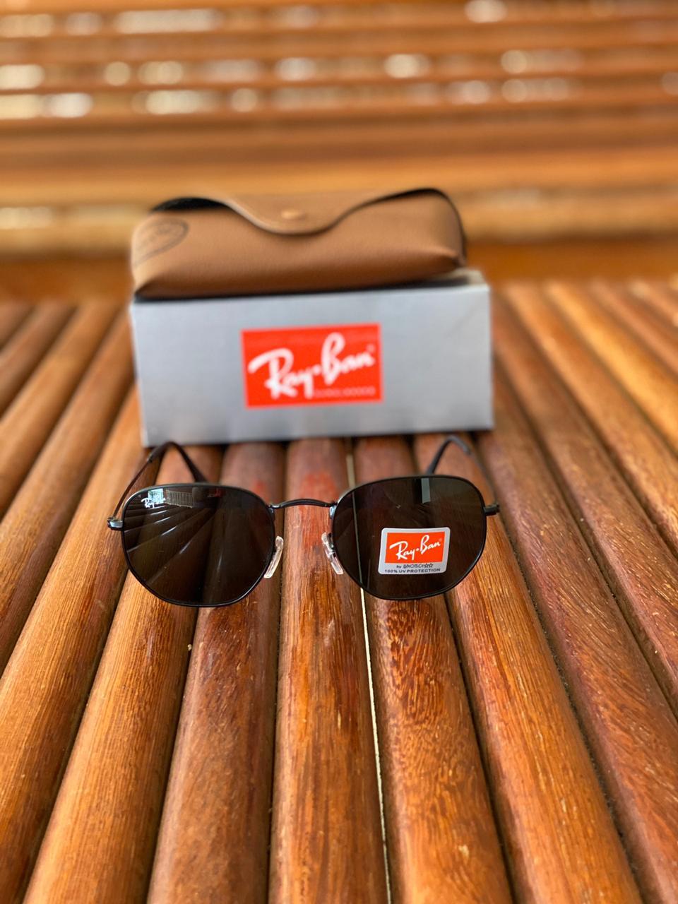 Oculos Masculino Ray Ban RB9 Termoplástico Liso - Preto