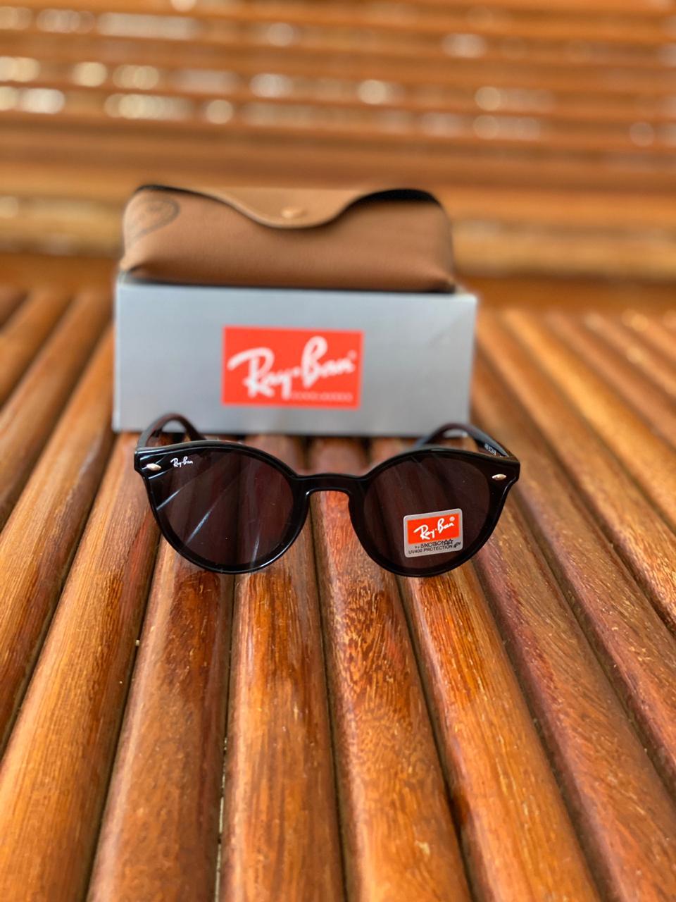 Óculos Masculino Ray Ban Termoplástico Liso - Preto