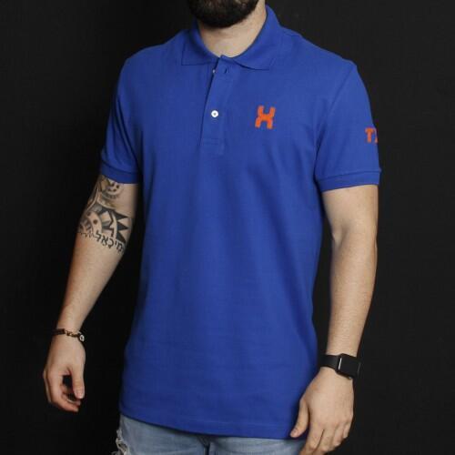 Camiseta Masculina Txc Gola Polo Algodão Liso - Azul