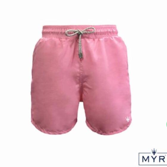 Short Masculino Myr Poliéster Lisa - Rosa Light