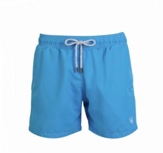 Short Masculino Myr Poliéster Liso - Blue Marlin