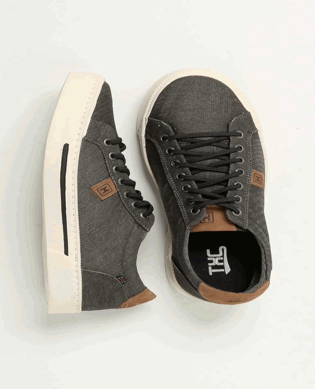 Tênis X-Shoes Cover Masculino Txc Lona e Borracha Liso - Cinza Escuro