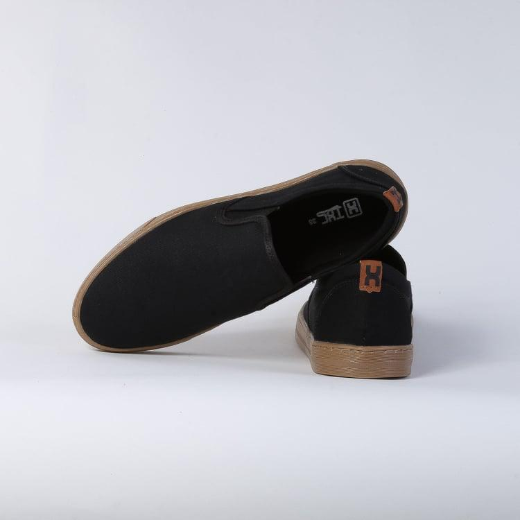 Tênis X-Shoes Iate Masculino Txc Lona e Borracha Liso - Preto