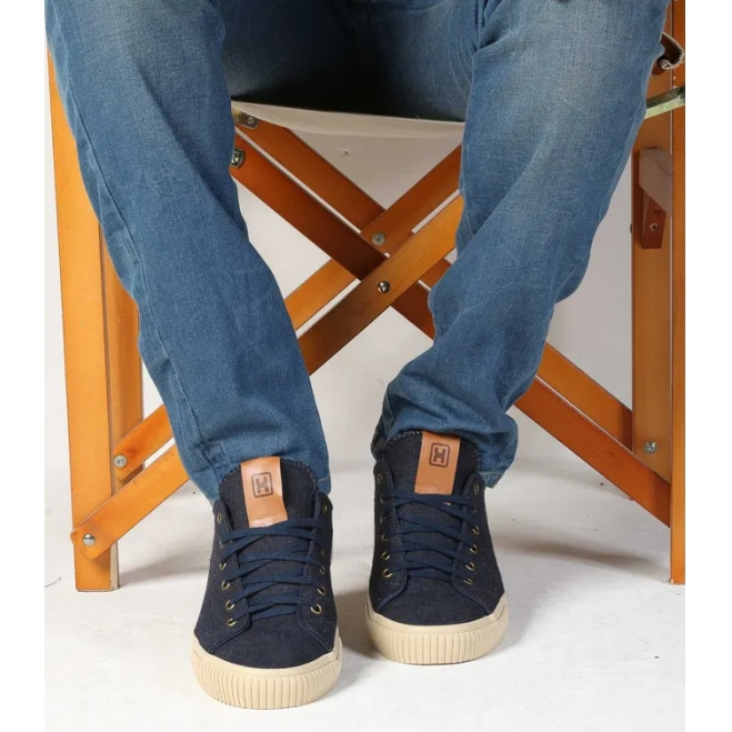 Tênis X-Shoes London Masculino Txc Lona e Borracha Liso - Azul Marinho