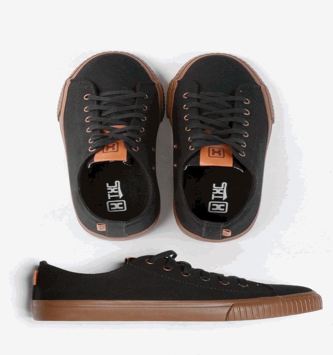 Tênis X-Shoes London Masculino Txc Lona e Borracha Liso - Preto