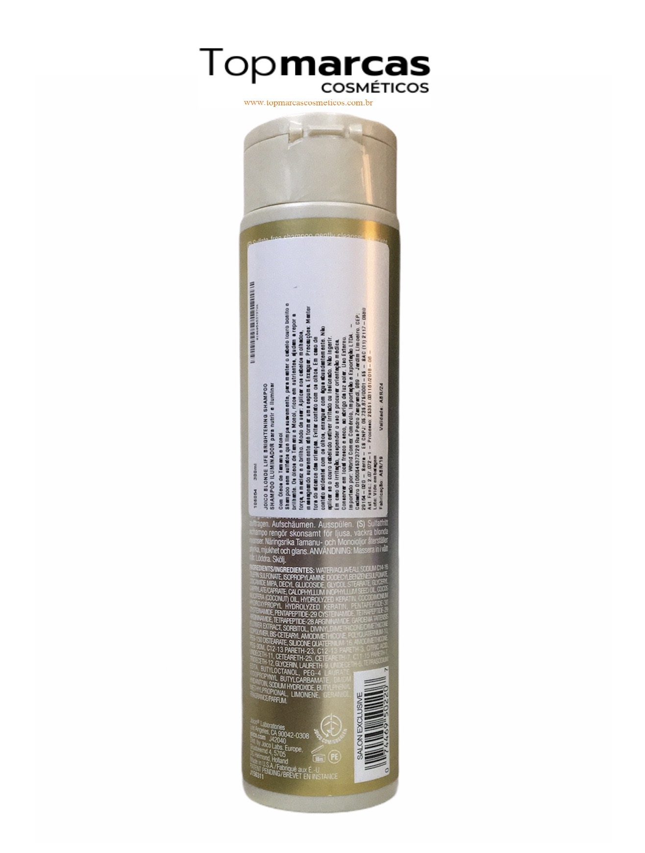 Joico Shampoo Iluminador Blonde Life para Cabelos Loiros 300ml