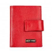 Carteira porta documentos couro liso vermelho