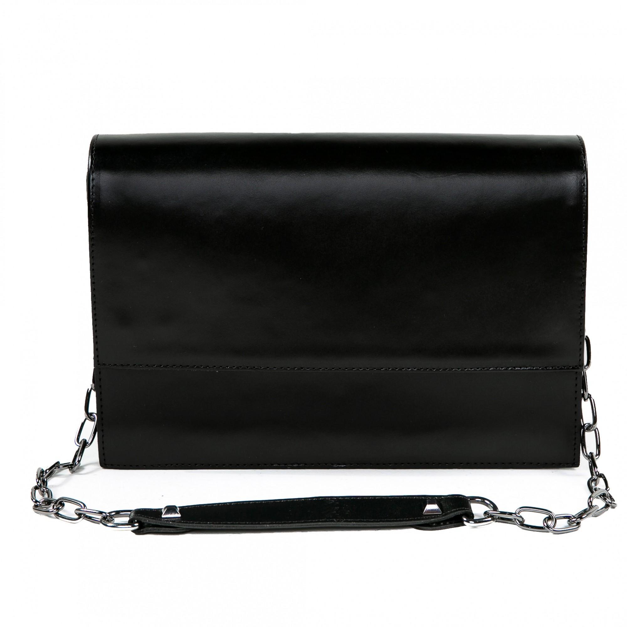 Bolsa estruturada couro preta