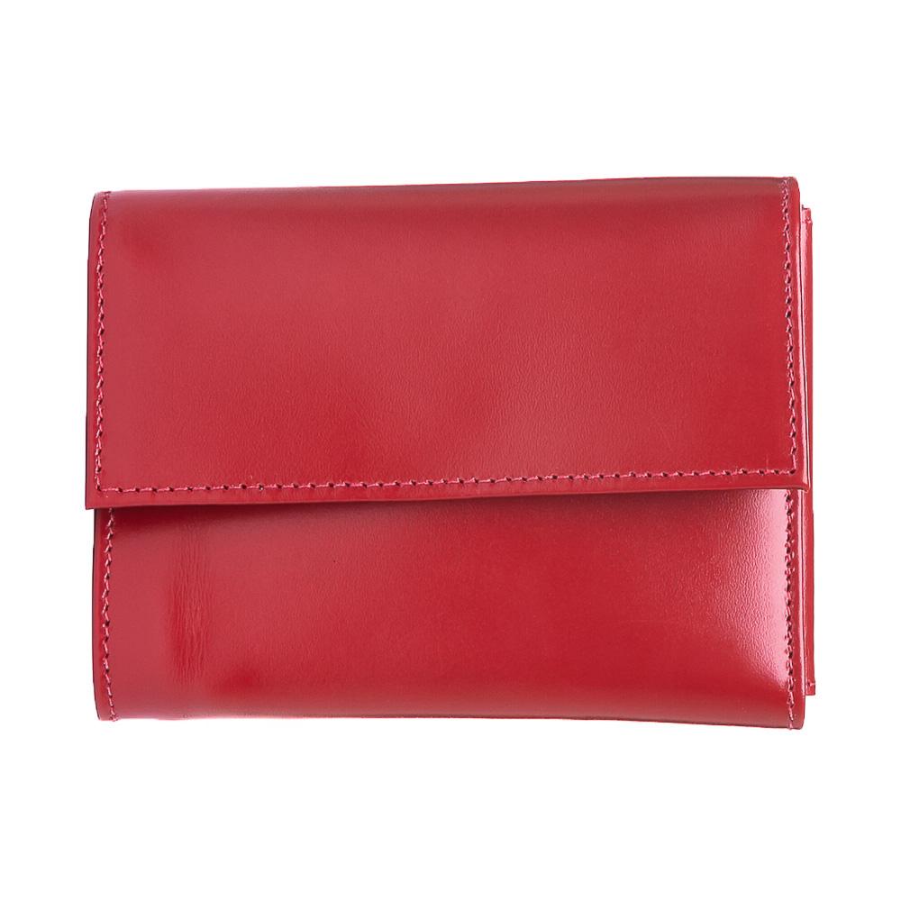 Carteira feminina couro liso vermelho.  - Cellso Afonso