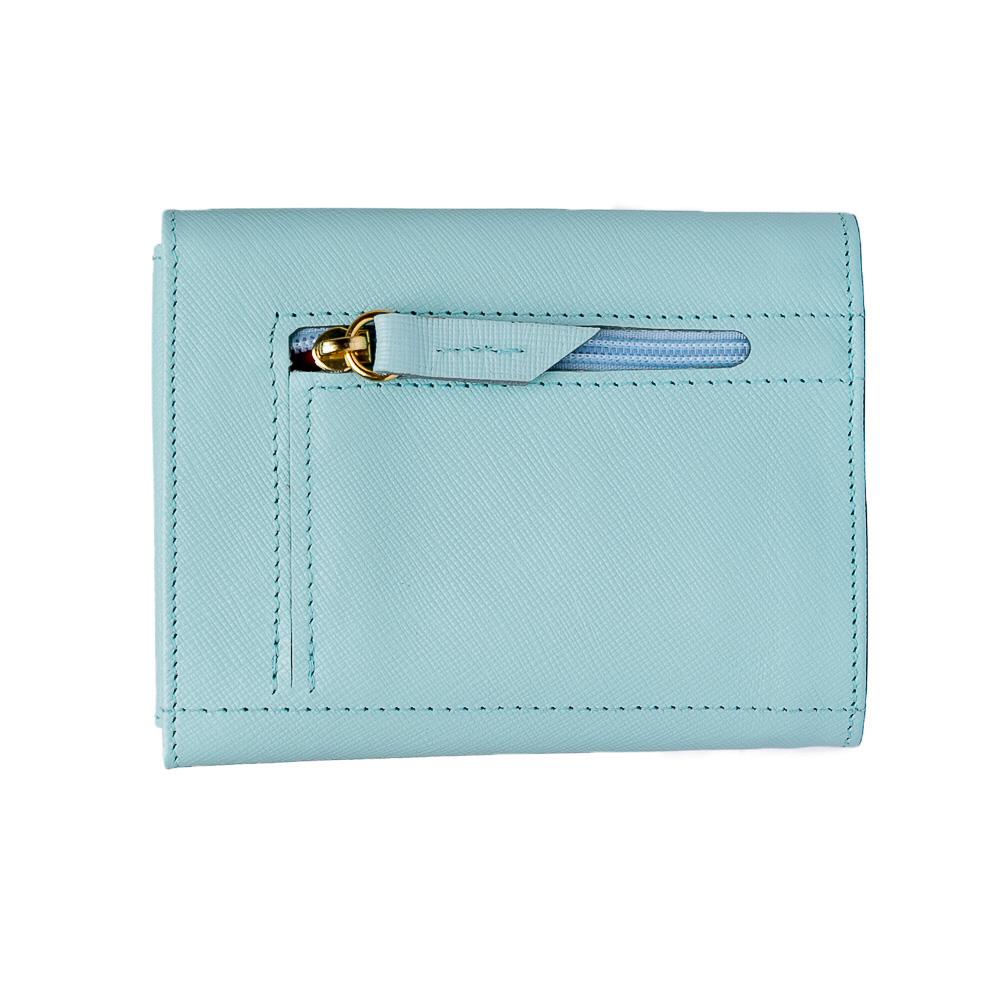 Carteira feminina couro azul  - Cellso Afonso