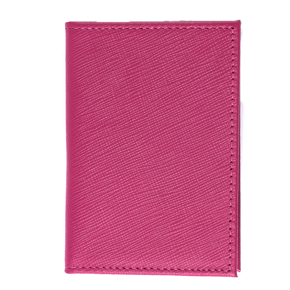 Porta cartões couro safiano pink.  - Cellso Afonso