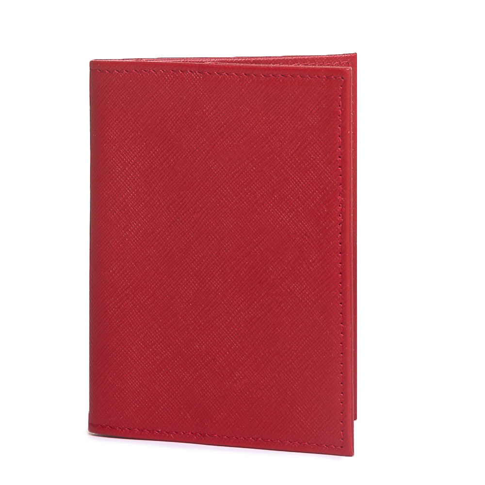 Porta passaporte couro safiano vermelho.  - Cellso Afonso