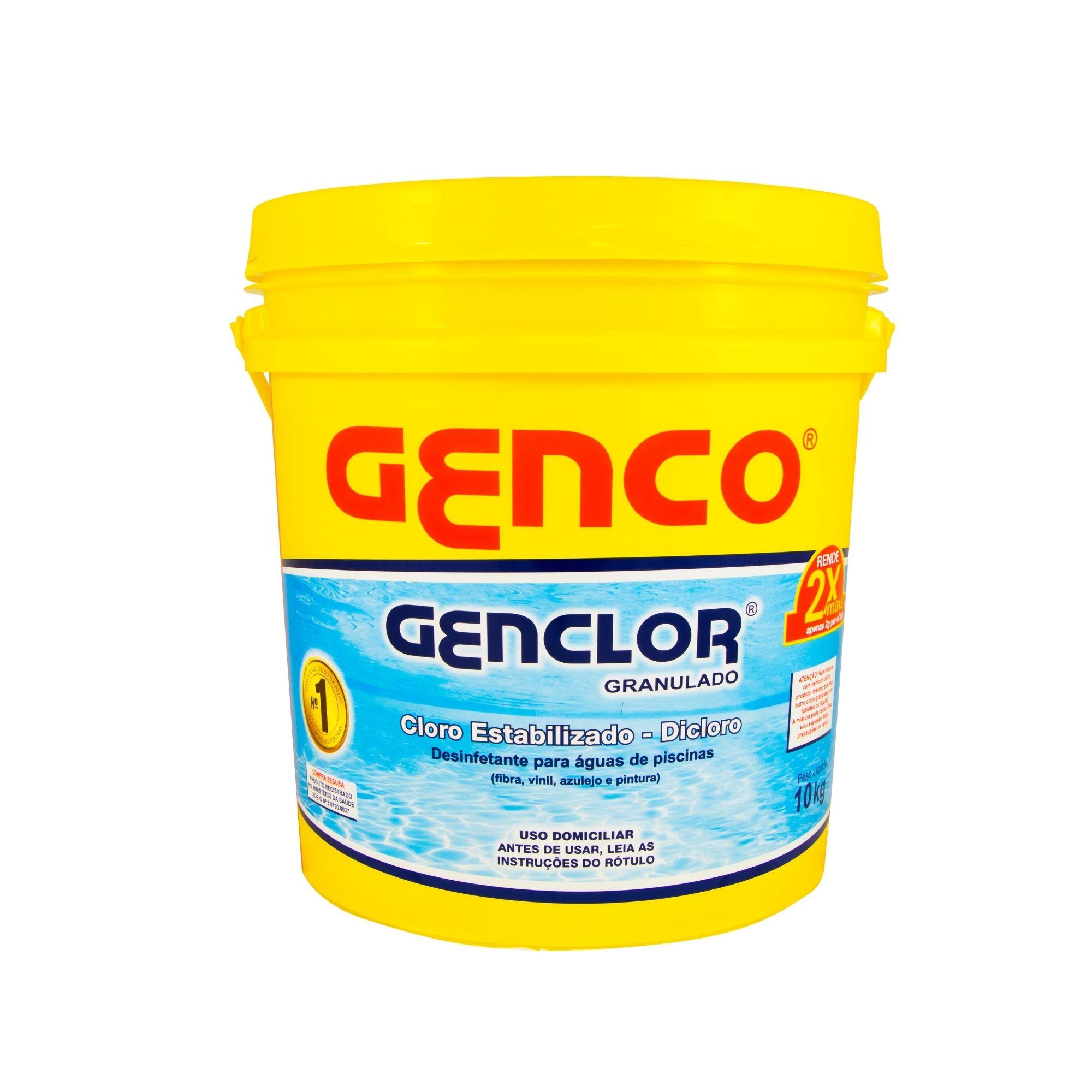 CLORO GRANULADO ESTABILIZADO GENCLOR 10 KG - GENCO