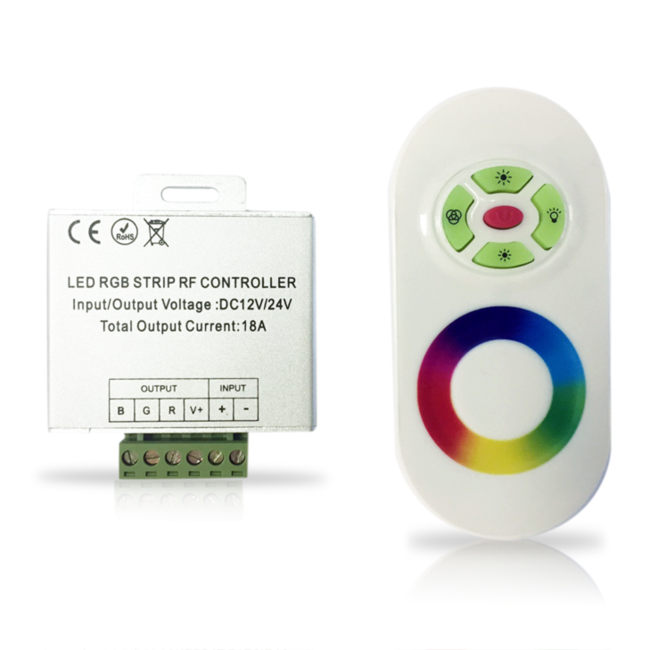 CONTROLE REMOTO RGB WIRELESS TOUCHING -ILUCTRON