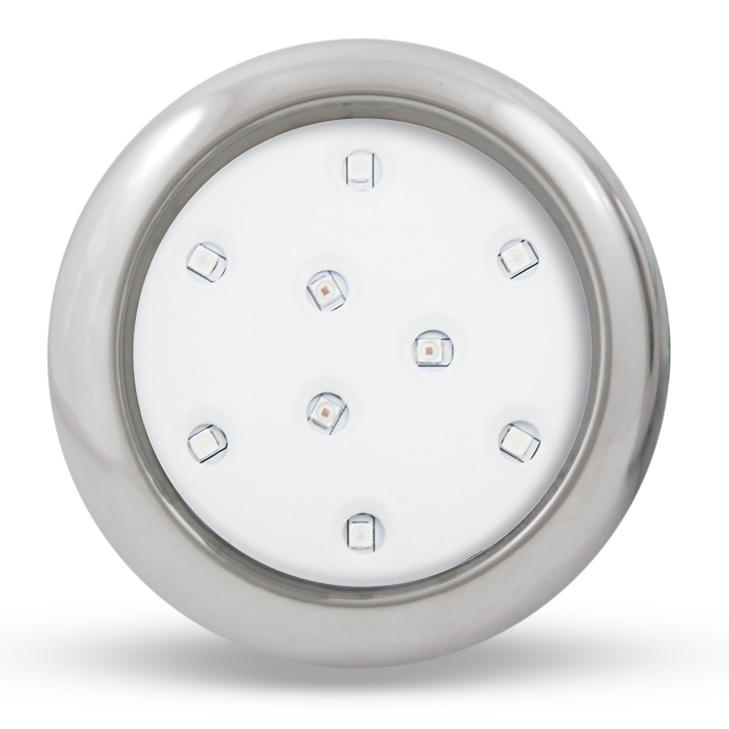 REFLETOR HIPER LED 9 W 80MM INOX RGB 12V  -  ILUCTRON