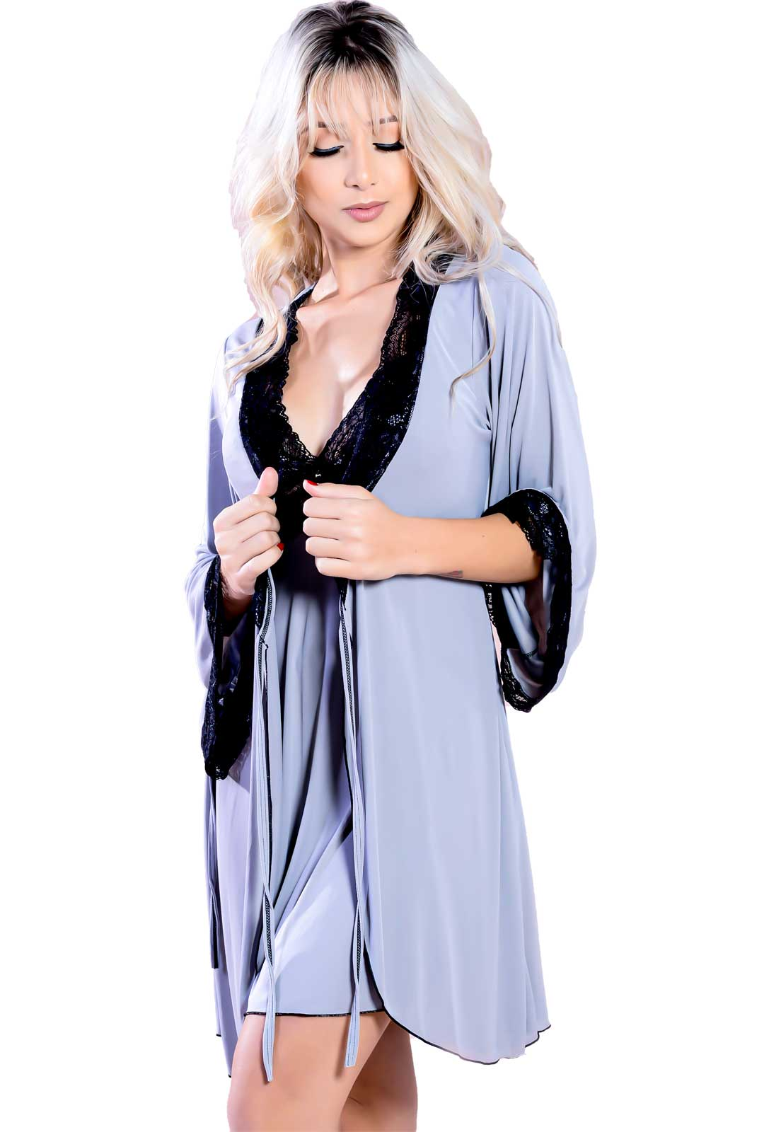 Robe Curto Sereia com Manga Longa