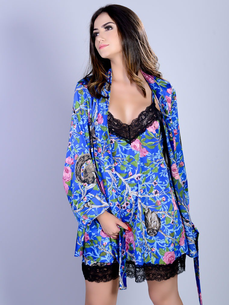 Robe Curto Silk Satin