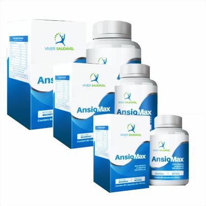 Ansiomax- (Ansiedade) - 3 Unidades