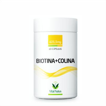 Biotina + Colina Vital Natus - 60 Cápsulas 625,5mg