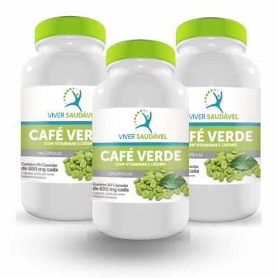 Café Verde Com Vitaminas e Cromo - Viver Saudável - 3 Unidades