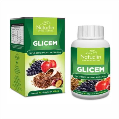 Glicem - 90 cápsulas - 500mg