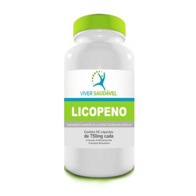 Licopeno e Selênio 60 Cápsulas 750mg  Viver Saudável