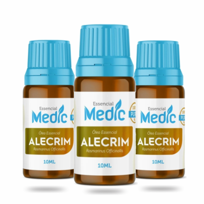 Óleo essencial Alecrim - 10ml - Medic - 3 und