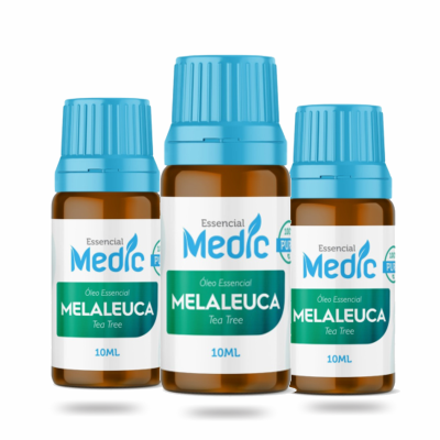 Óleo essencial de melaleuca para massagens 10ml Medic - 3 und