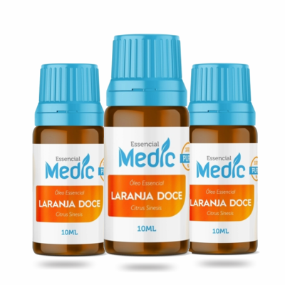 Óleo essencial Laranja Doce - 10ml - Medic - 3 und