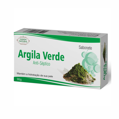 Sabonete de Argila Verde, 90g – Lianda Natural