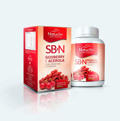 SB-N Gojiberry e Acerola  60 Capsulas de 500 Mg