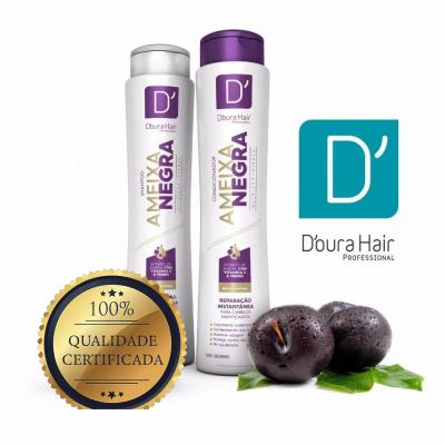 Shampoo + Condicionador 400ml  Ameixa Negra Doura Hair