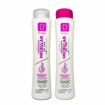 Shampoo E Condicionador 400ml Hidratação Micellar D`Oura Hair