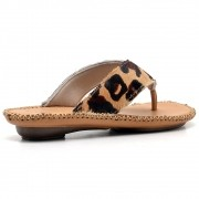 Sandálias Chinelas Couro Gommix 062 Onça
