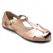 Sandálias Feminina Couro Gommix 780 Metalizado
