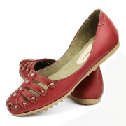 Sapatilha Confort Couro Gommix 510 Vermelho