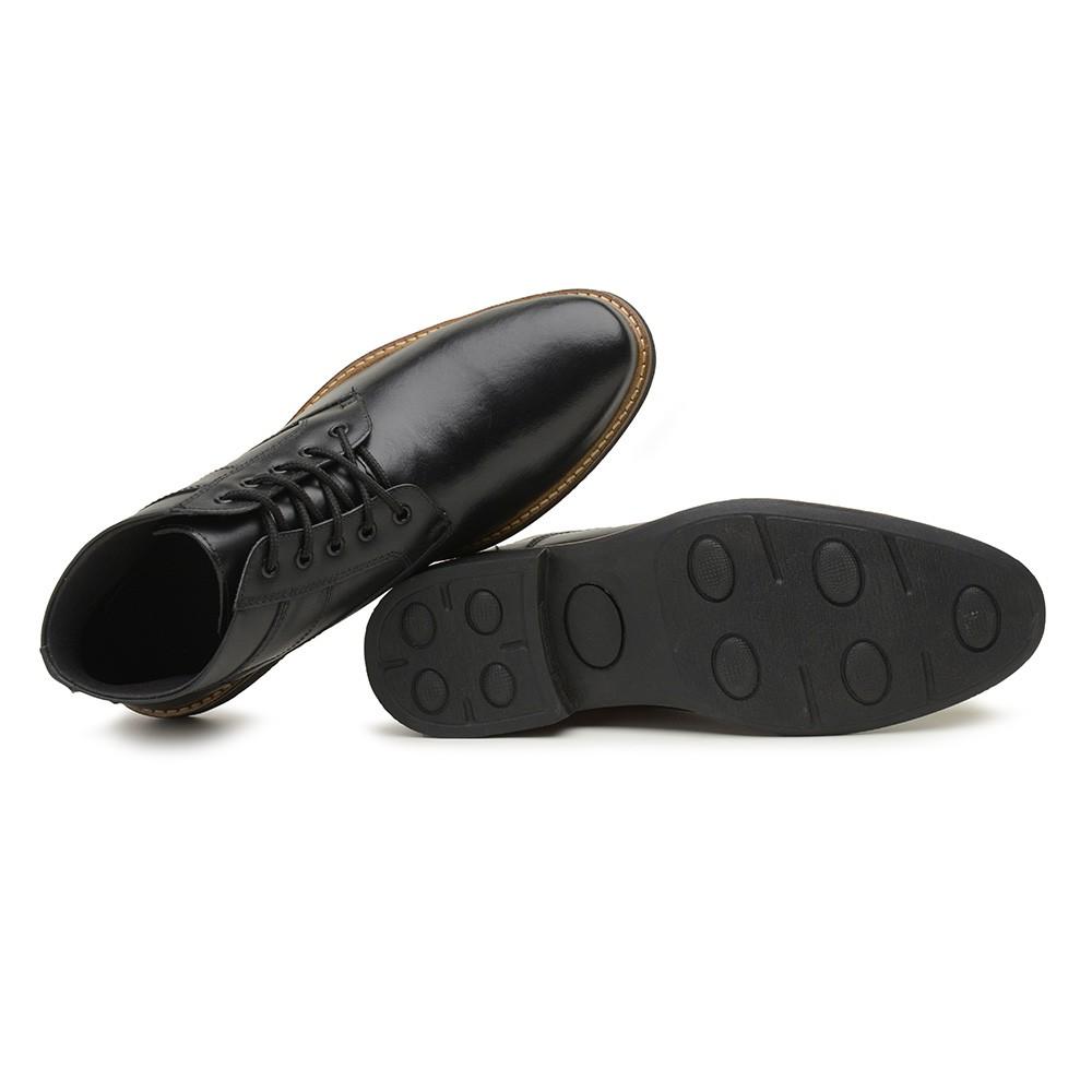 Bota Masculina Gommix Shoes 1010 Couro Preto
