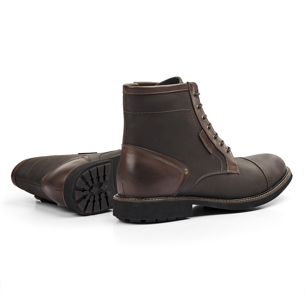 Coturno Casual Masculino Gommix Trons Dark Brown