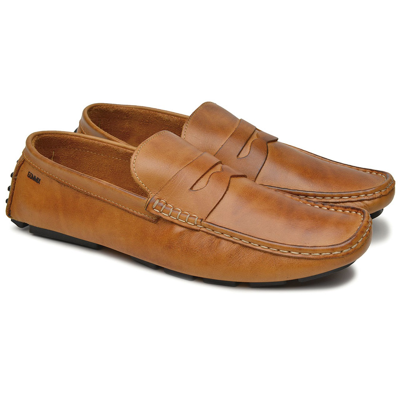 Mocassim Drive Masculino Gommix Shoes 1001- whisky