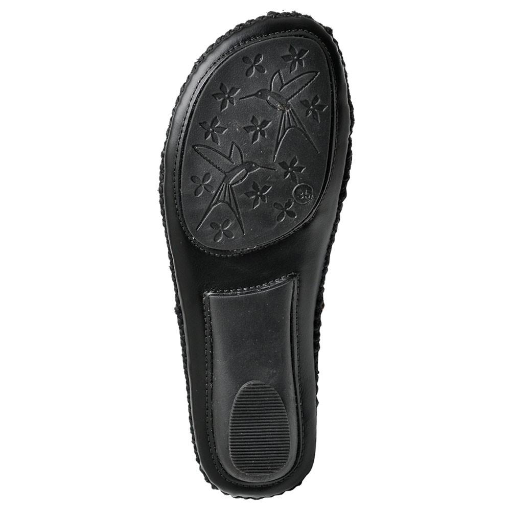 Sandálias Chinelas Couro Gommix 068 Preto