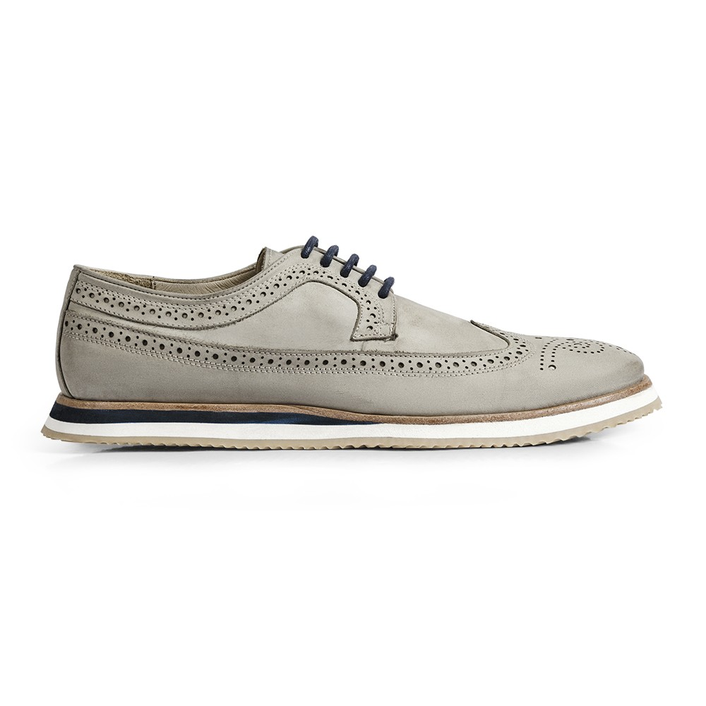 Sapato Casual Brogue Durhan Gommix Off White