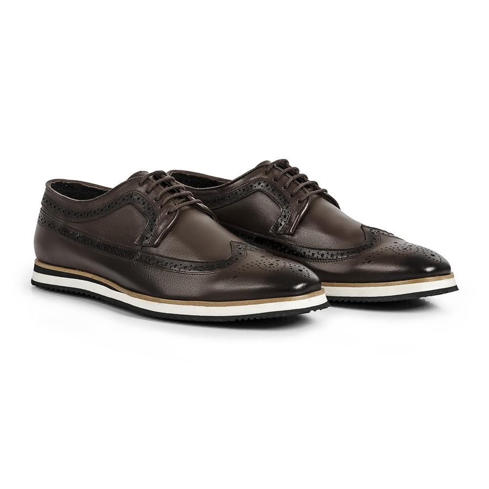 Sapato Casual Brogue Durhan Gommix Café