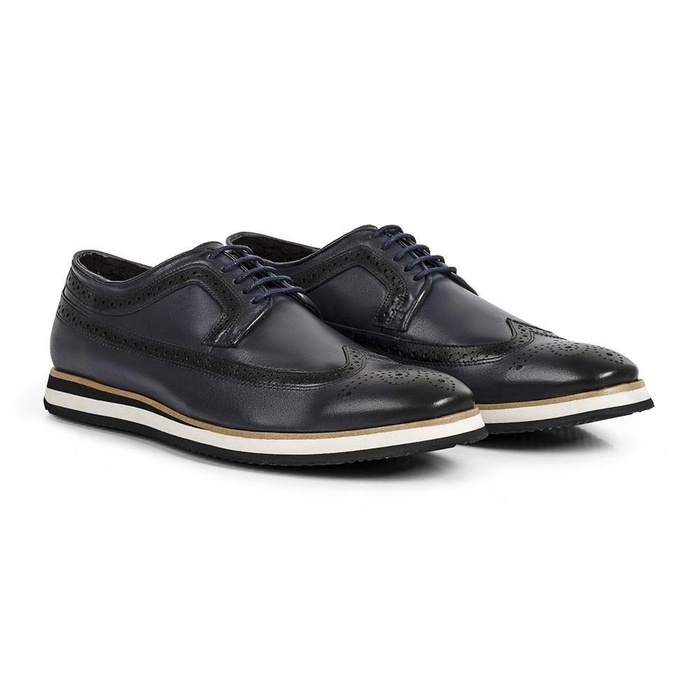Sapato Casual Brogue Durhan Gommix Marinho