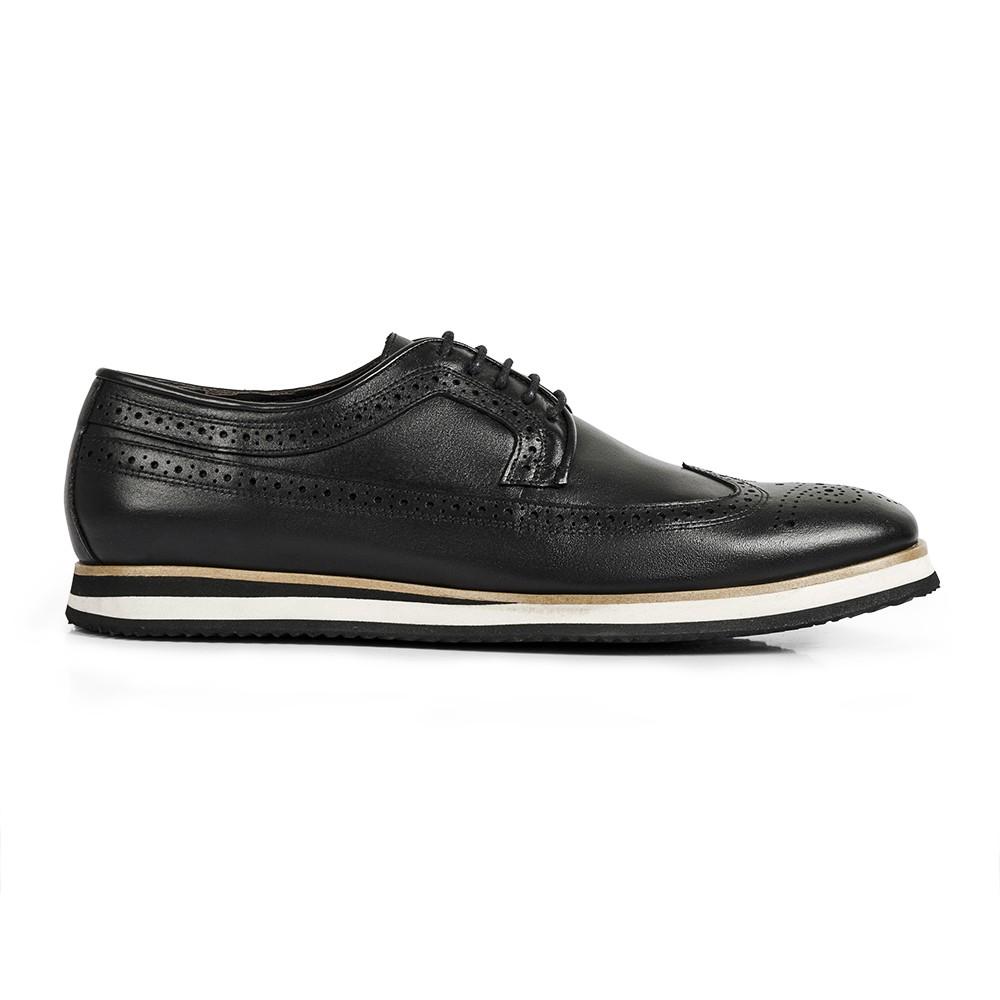 Sapato Casual Brogue Durhan Gommix Preto