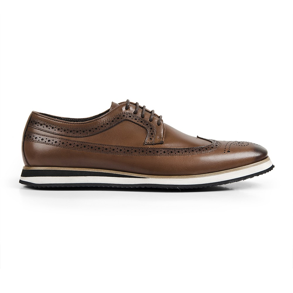 Sapato Casual Brogue Durhan Gommix Whisky