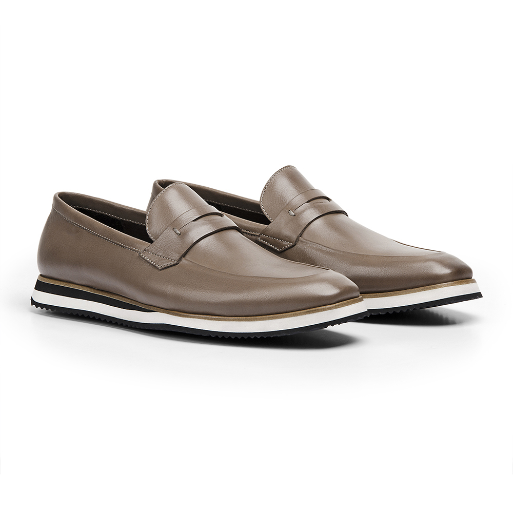 Sapato Loafer Durhan Gommix Bege