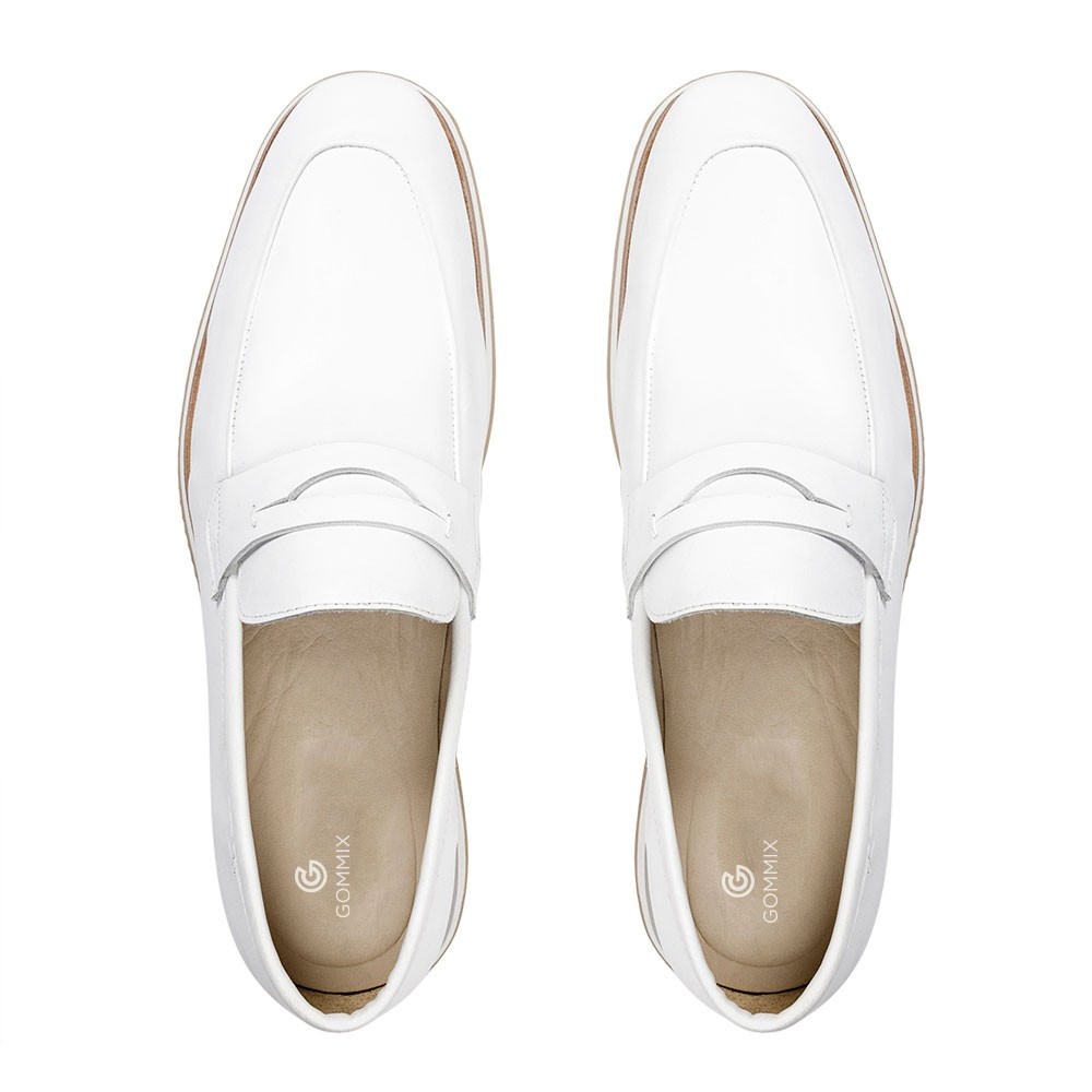Sapato Loafer Durhan Gommix Branco