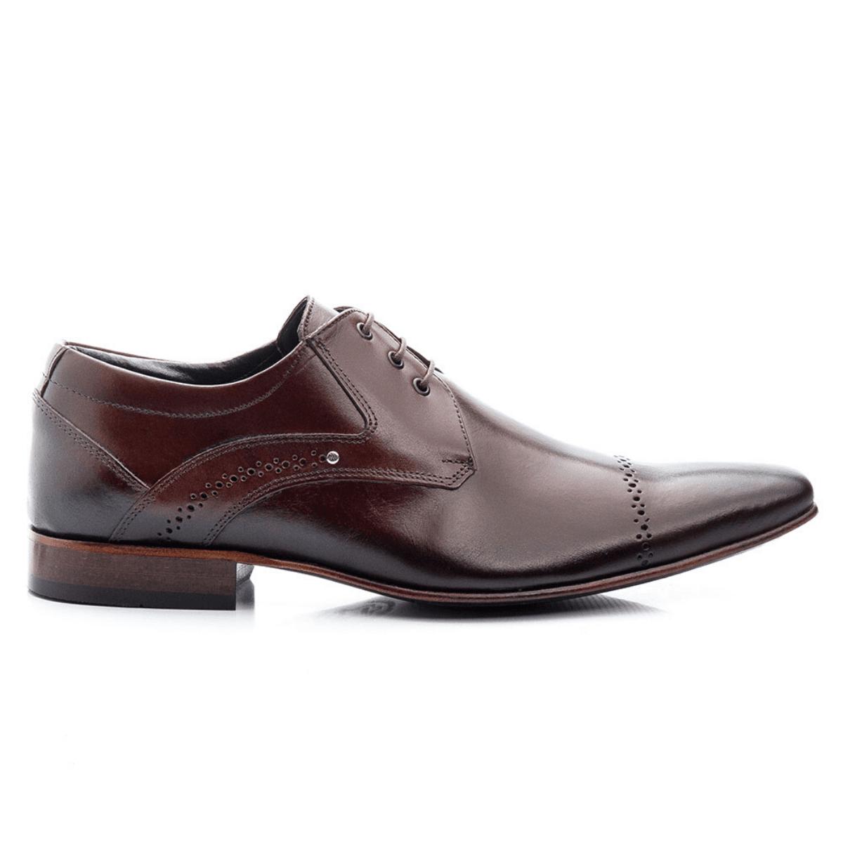 Sapato Masculino Clássico de Amarrar Couro Mouro