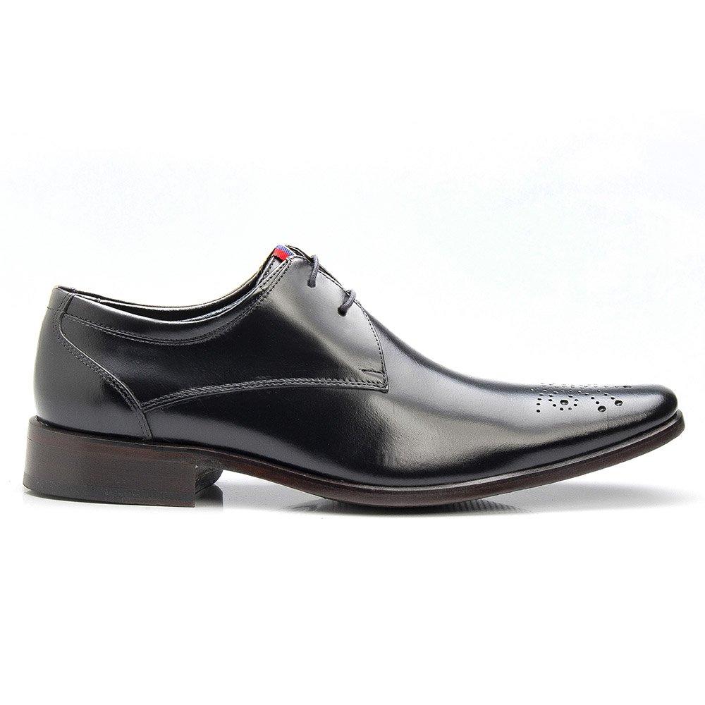 Sapato Masculino Social Brogue Couro Legítimo Preto
