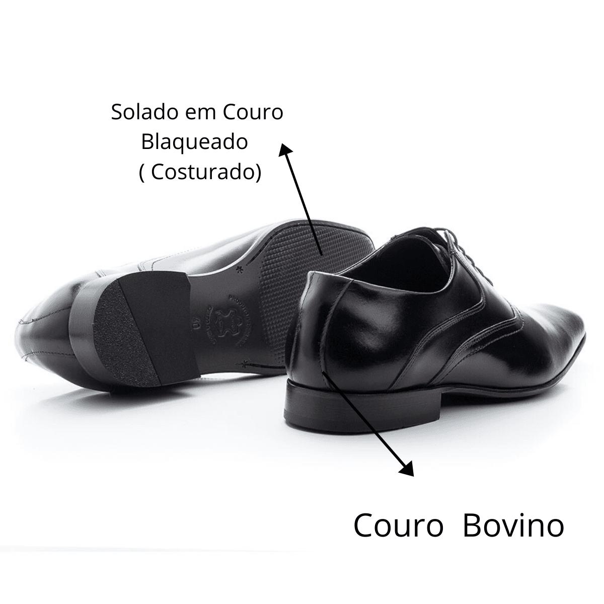 Sapato Social Bigioni 340 Clássico Couro Preto